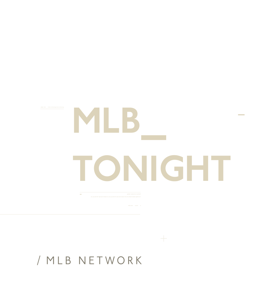 Mlb Tonight